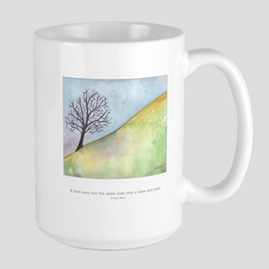 Wise Man Sees Quote Large Mug
