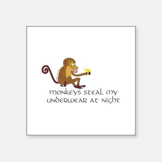 "Monkeys Square Sticker 3"" x 3"""