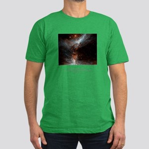 Universe Conspires Quote Men's Fitted T-Shirt (dar