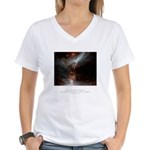 Universe Conspires Quote Women's V-Neck T-Shirt