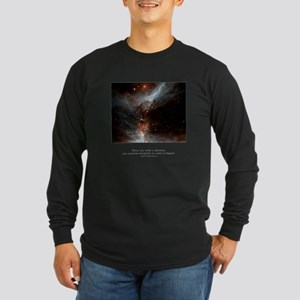 Universe Conspires Quote Long Sleeve Dark T-Shirt