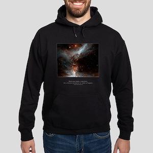 Universe Conspires Quote Hoodie (dark)