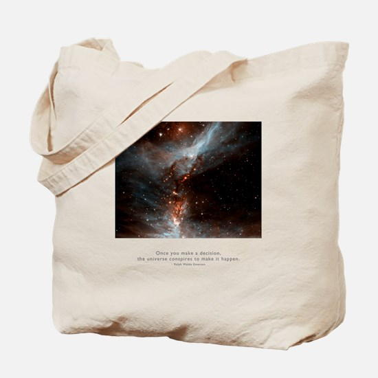 Universe Conspires Quote Tote Bag