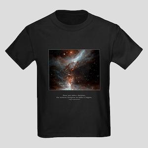 Universe Conspires Quote Kids Dark T-Shirt