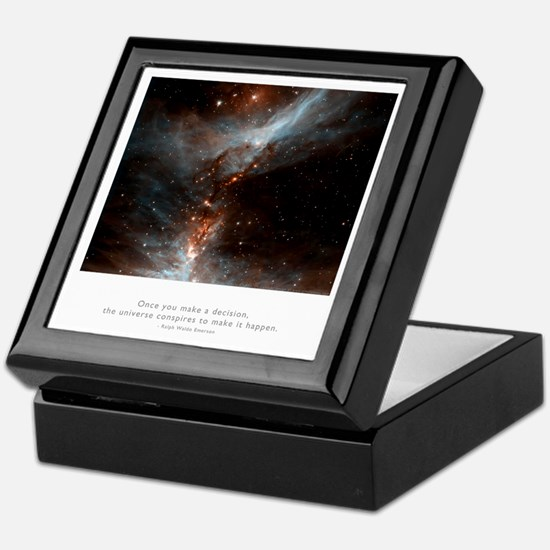 Universe Conspires Quote Keepsake Box