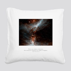 Universe Conspires Quote Square Canvas Pillow