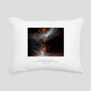 Universe Conspires Quote Rectangular Canvas Pillow