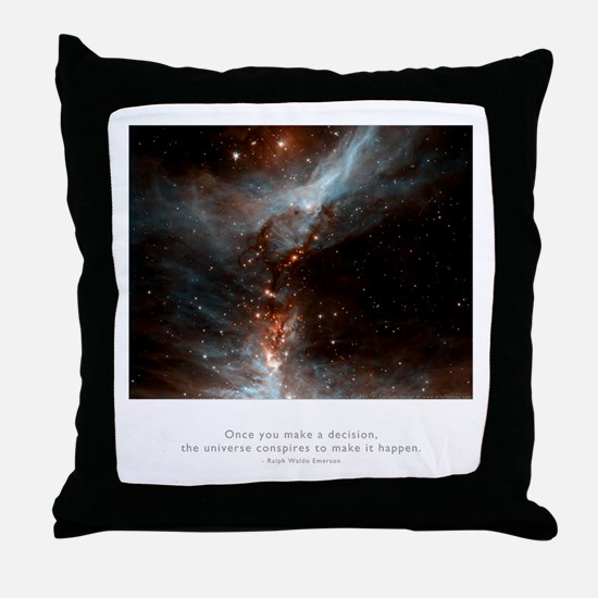 Universe Conspires Quote Throw Pillow
