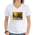 Buddha Road to Truth Quote Women's V-Neck T-Shirt