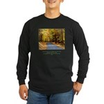 Buddha Road to Truth Quote Long Sleeve Dark T-Shir