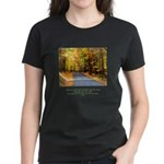 Buddha Road to Truth Quote Women's Dark T-Shirt