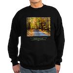 Buddha Road to Truth Quote Sweatshirt (dark)