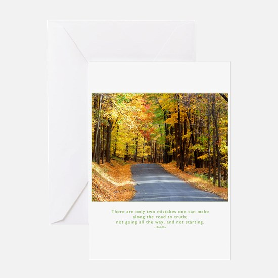 Buddha Road to Truth Quote Greeting Card