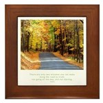 Buddha Road to Truth Quote Framed Tile