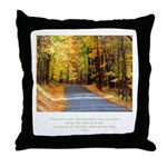 Buddha Road to Truth Quote Throw Pillow