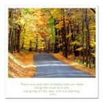 Buddha Road to Truth Quote Square Car Magnet 3