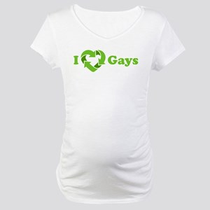 I love Gays - Recycle Heart Maternity T-Shirt