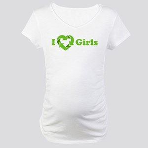 I love Girls - Recycle Heart Maternity T-Shirt