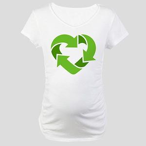 Recycling Heart Maternity T-Shirt