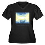 Receive Gifts Natural Quote Women's Plus Size V-Ne