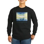 Receive Gifts Natural Quote Long Sleeve Dark T-Shi