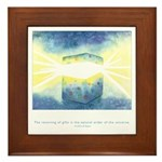 Receive Gifts Natural Quote Framed Tile