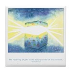 Receive Gifts Natural Quote Tile Coaster