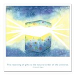 Receive Gifts Natural Quote Square Car Magnet 3