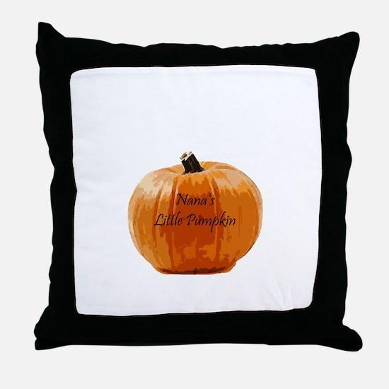 Nana's Little Pumpkin Throw Pillow
