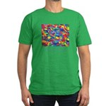 Color Power Quote Men's Fitted T-Shirt (dark)