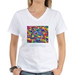 Color Power Quote Women's V-Neck T-Shirt