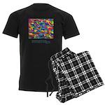 Color Power Quote Men's Dark Pajamas