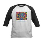 Color Power Quote Kids Baseball Jersey