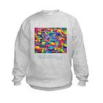 Color Power Quote Kids Sweatshirt