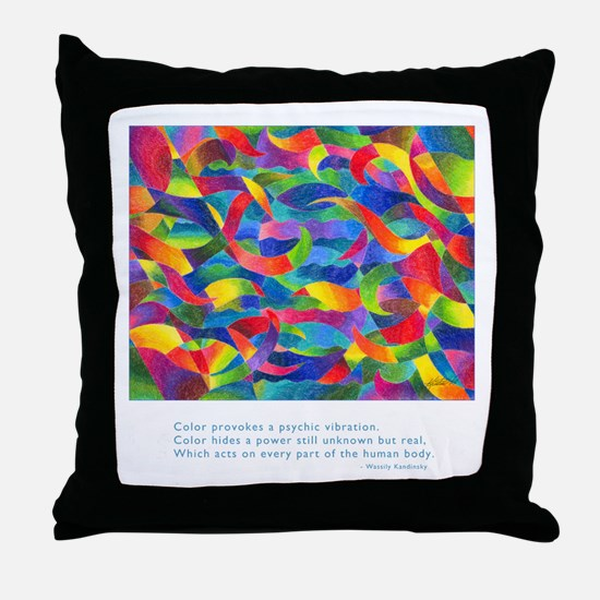 Color Power Quote Throw Pillow