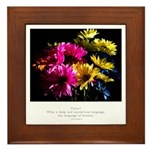 Language of Dreams Quote Framed Tile