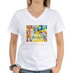 Magical World Quote Women's V-Neck T-Shirt