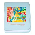 Magical World Quote baby blanket