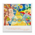 Magical World Quote Tile Coaster
