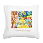 Magical World Quote Square Canvas Pillow