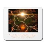 Buddha Candle Quote Mousepad