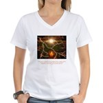 Buddha Candle Quote Women's V-Neck T-Shirt