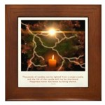 Buddha Candle Quote Framed Tile