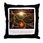 Buddha Candle Quote Throw Pillow