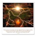 Buddha Candle Quote Square Car Magnet 3
