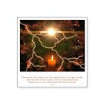Buddha Candle Quote Square Sticker 3