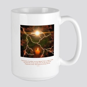 Buddha Candle Quote Large Mug