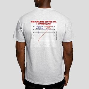 Sky RedLine T-Shirt w/Dyno Chart on Back ASH GRAY