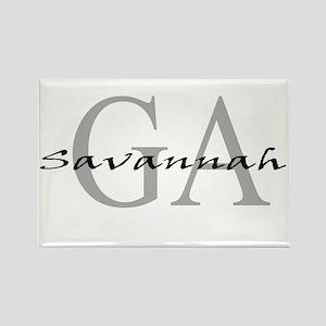 Savannah thru GA Rectangle Magnet
