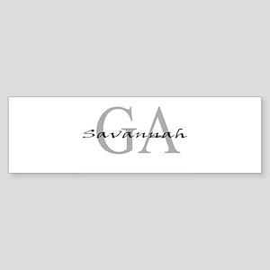 Savannah thru GA Bumper Sticker
